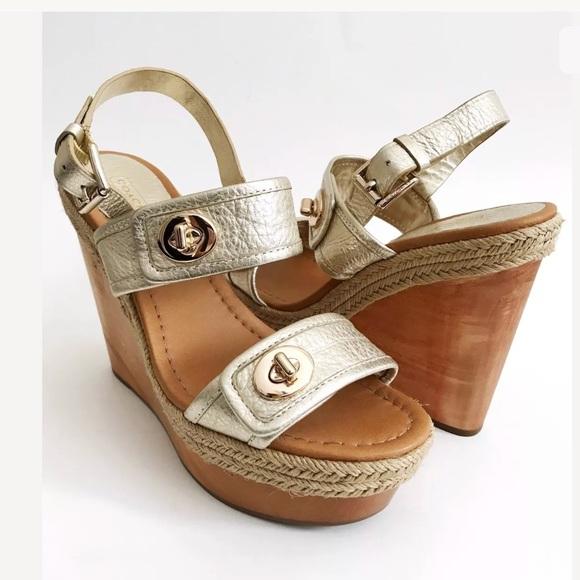 0f4ba209bb01 Coach Shoes - NWOB COACH MARIAM WEDGE Women s 10B Shoe Wood